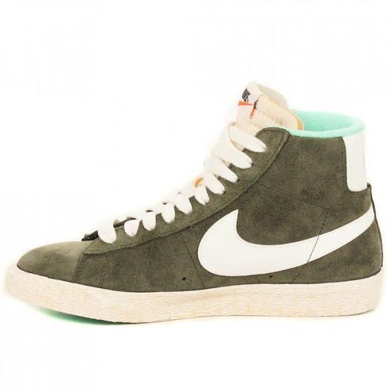 Nike Blazer Mid Suede kakiNike Blazer Mid Suede kaki Vert ...