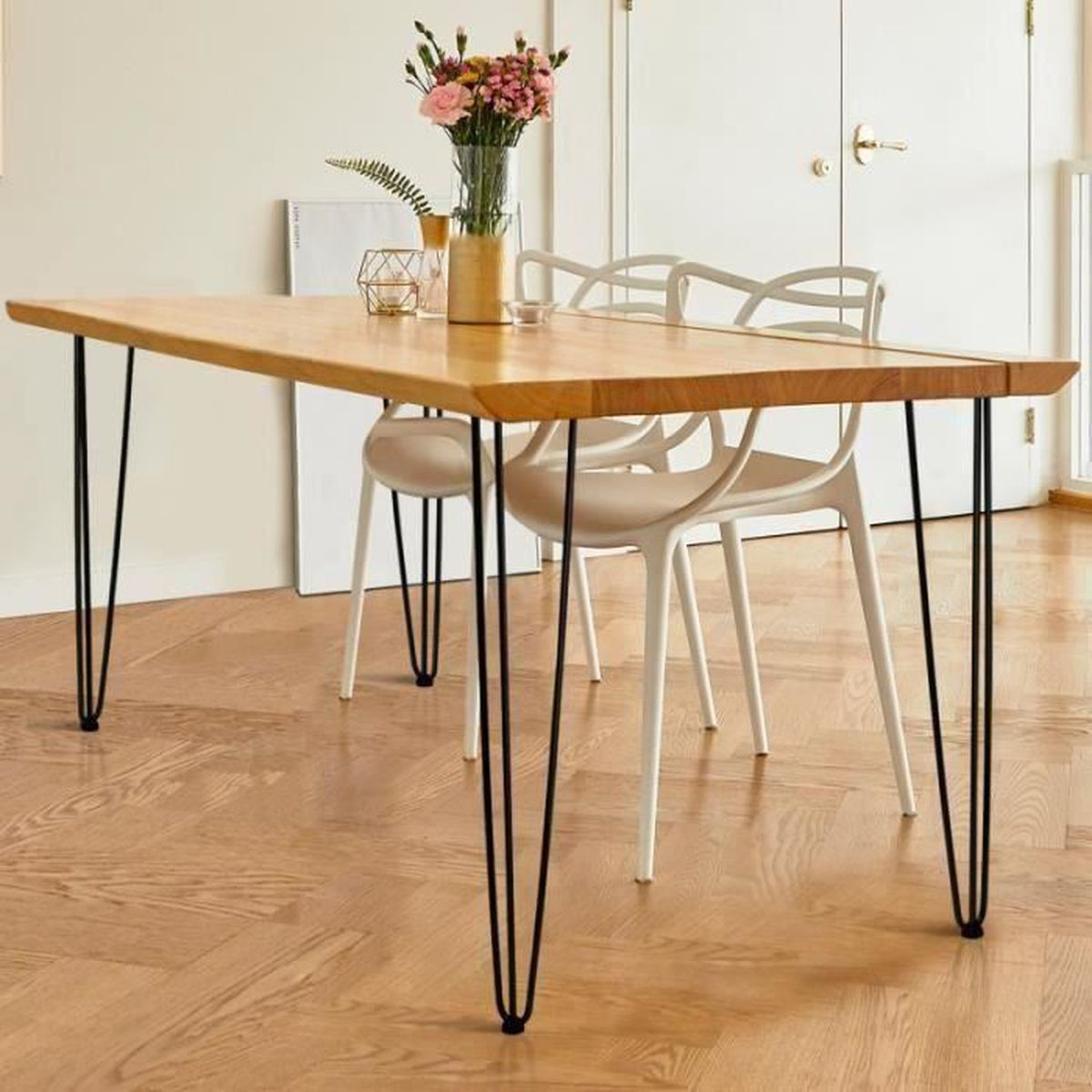 4x brut de meubles en bois naturel pieds ou de ses jambes-sofa Tabourets 150mm M8 chaise 8mm