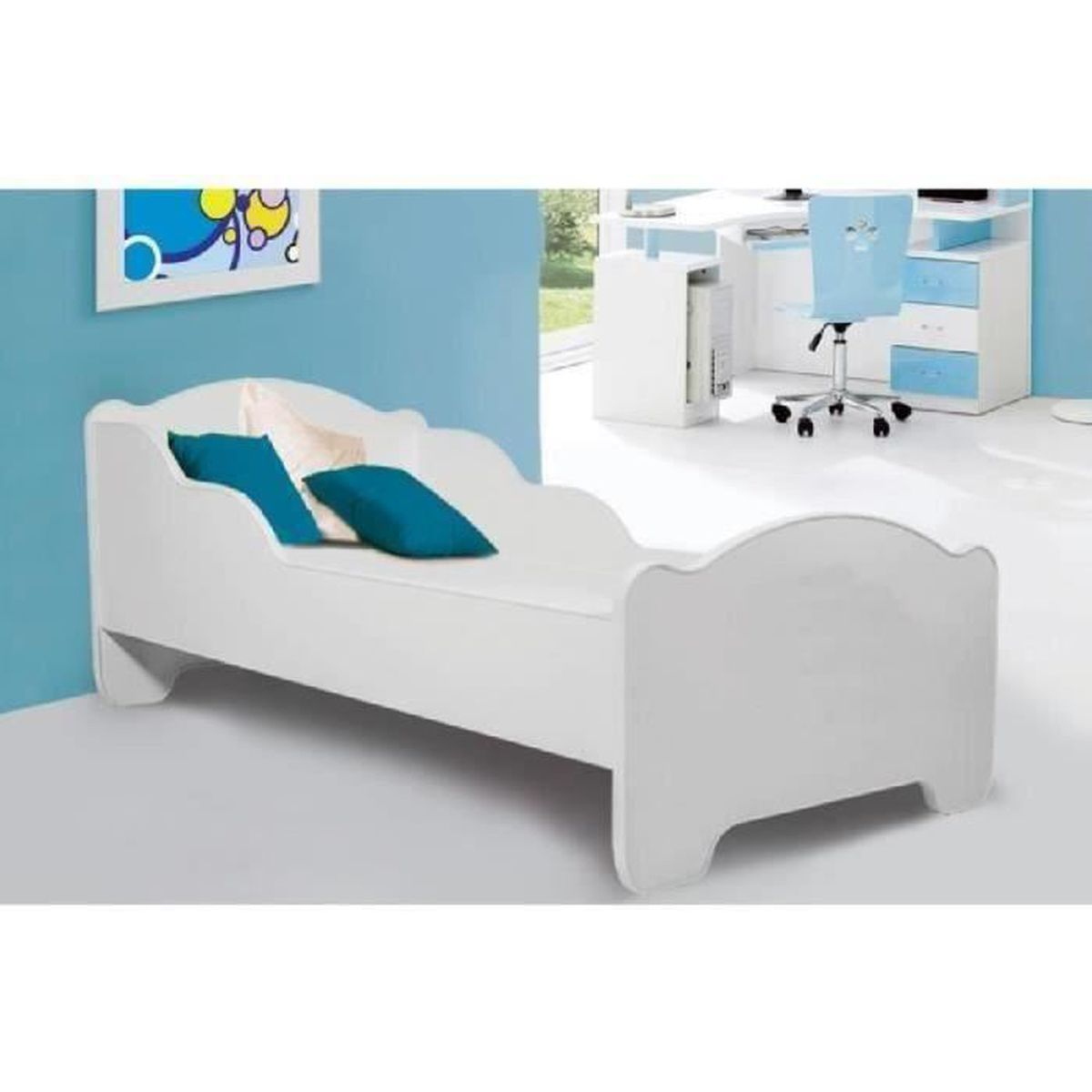 lit enfant m 160x80cm matelas sommier d achat vente lit complet lit enfant m 160x80cm mate. Black Bedroom Furniture Sets. Home Design Ideas