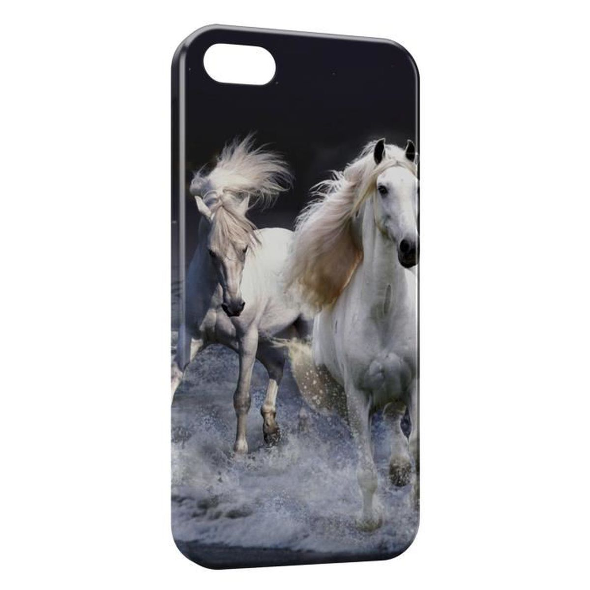 coque iphone 6 chevaux blancs water