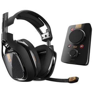 CASQUE AVEC MICROPHONE Casque gaming A40 TR + MixAmp Pro TR - PS4 - Noir