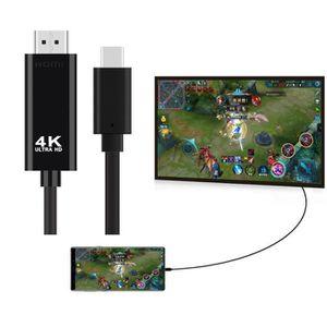 CÂBLE TV - VIDÉO - SON Type-C Câble HDMI 4K HDTV TV numérique AV Adaptate