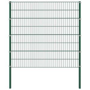 CLÔTURE - GRILLAGE INGSHOP© Panneau de clôture avec poteaux Fer 1,7 x