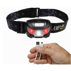 LAMPE FRONTALE MULTISPORT  Lampe Frontale Puissante ,Rechargeables USB,4 Mod