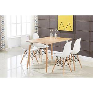 TABLE DE CUISINE  Table de Salle à Manger Moderne Brun et 4 Chaises