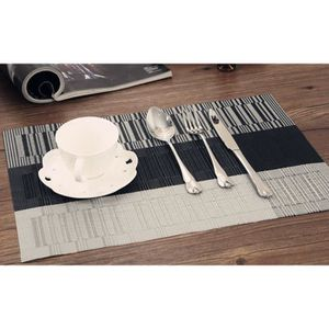 set de table pvc gris achat vente set de table pvc. Black Bedroom Furniture Sets. Home Design Ideas