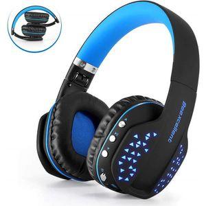 CASQUE AVEC MICROPHONE Casque Bluetooth sans Fil Pliable Casque Audio Mic