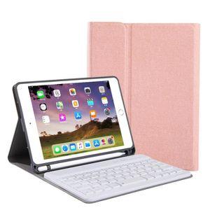 CLAVIER D'ORDINATEUR Pour iPad 10.2 Clavier Couverture en cuir texturé
