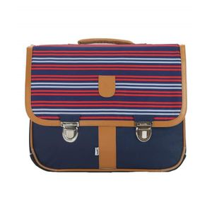 CARTABLE Bagtrotter MSNI10NAVY Cartable Miniséri Rayures Bl