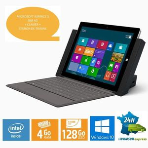 TABLETTE TACTILE RECONDITIONNÉE MICROSOFT SURFACE 3 4G LTE + CLAVIER + STATION DE