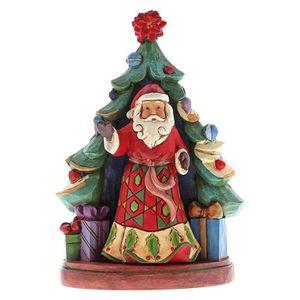 OBJET DÉCORATIF Jim Shore Père Noël avec arbre, mini-figurine 2 pi