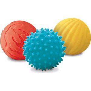 BALLE - BOULE - BALLON LUDI - Coffret de 3 petites balles sensorielles. D