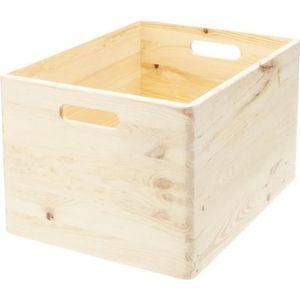 BOITE DE RANGEMENT Caisse de rangement en bois. Taille L