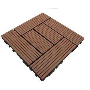 REVETEMENT EN PLANCHE Dalle de terrasse bois composite Classic cm - L: 3