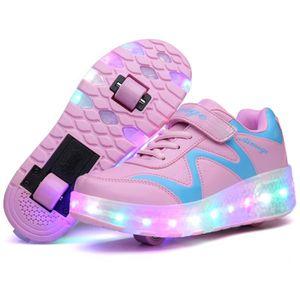 BASKET Basket Enfants Roller Sneaker avec une roue LED lu