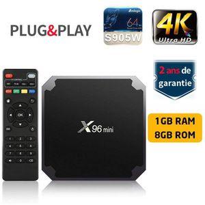 BOX MULTIMEDIA X96mini Smart TV BOX 2Go + 16Go Android 7.1.2 Amlo