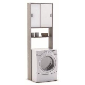 ETAGÈRE MURALE Rangement sanitaire avec 2 portes coulissantes, Co