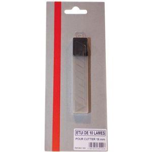 CUTTER Lame de cutter - lot de 10 - 18 mm