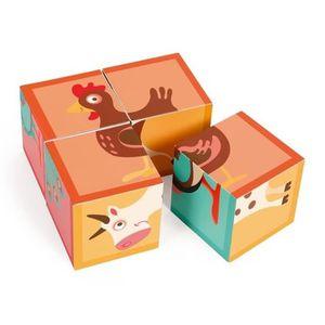 PUZZLE Scratch bloc puzzle ferme carton 4 blocs