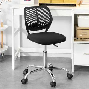 CHAISE DE BUREAU SoBuy® FST64-SIL Chaise de Bureau Ergonomique Faut