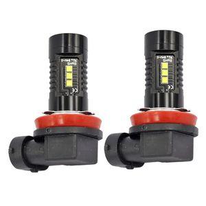 2pcs Moto lumi/ères LED,Lampe /œil daigle pour Auto,LED Feux Gabarit 12 V universel Blanc Feux de Brouillard,Projecteur Feux Diurnes /à LED DRL pour Motos Scooters Tricycles et Quads,2.5 pouces