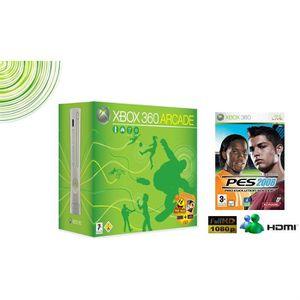CONSOLE XBOX 360 CONSOLE XBOX 360 ARCADE + LE JEU PES 2008 (FOOTBAL