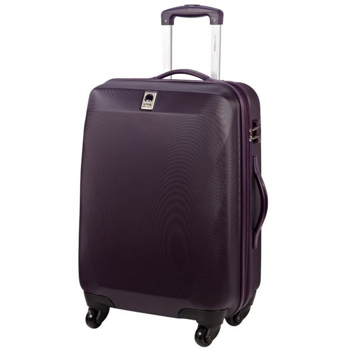 visa delsey valise trolley 4 roues 64 cm optima prune achat vente valise bagage visa. Black Bedroom Furniture Sets. Home Design Ideas