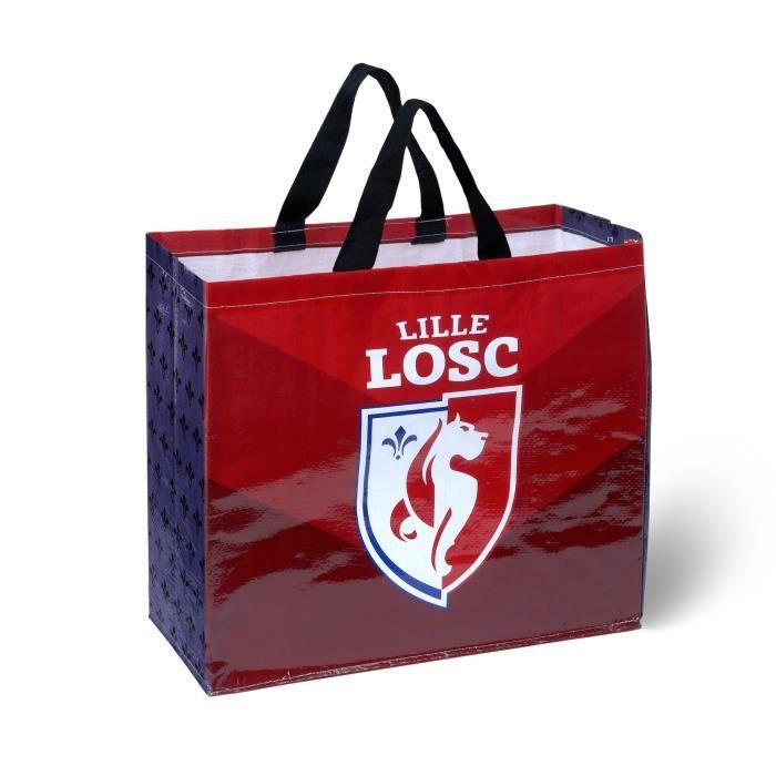 Licence Officielle LOSC Blanc. T-Shirt Graphic Dogue Lille Enfant