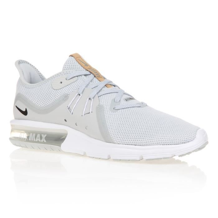 super popular d0ad1 156f1 BASKET NIKE Chaussures Air Max Sequent 3 - Homme - Gris,