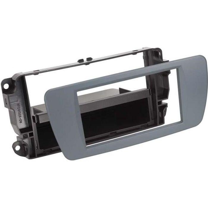 Adaptateur de façade 2-DIN avec vide poche Seat Ibiza 08 > conemara grey