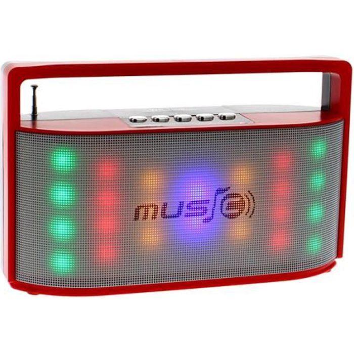 Radio Fm Bluetooth Lumineuse.