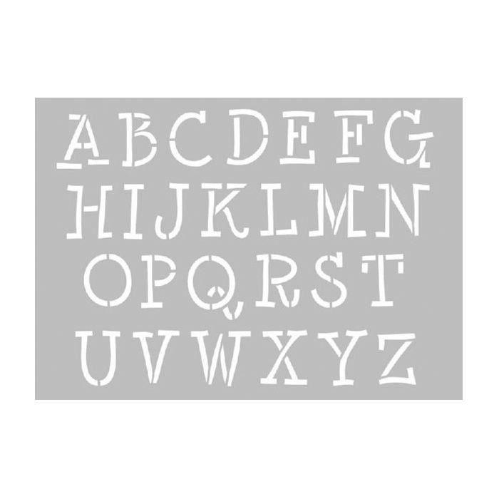 Artemio - Pochoir à lettres majuscules
