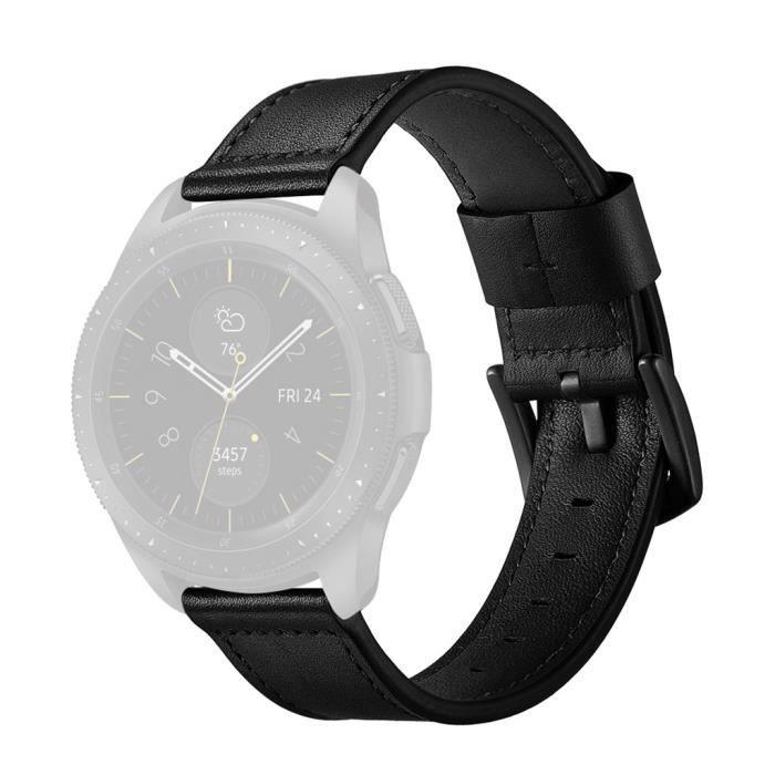 bracelet de montre vendu seul Bande en cuir de bracelet de montre de rechange 22mm pour la montre de galaxie de Samsung 46mm
