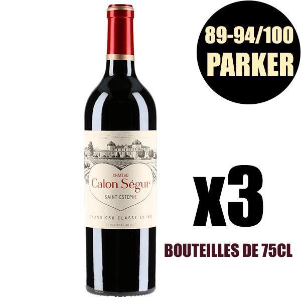 X3 Château Calon-Ségur 1998 75 cl AOC Saint-Estèphe Rouge 3ème Cru Classé Vin Rouge