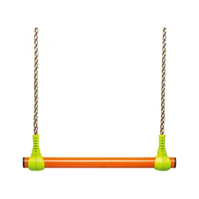 Trapèze métal - vert et orange - pour portique 1,90 à 2,50m - TRIGANO