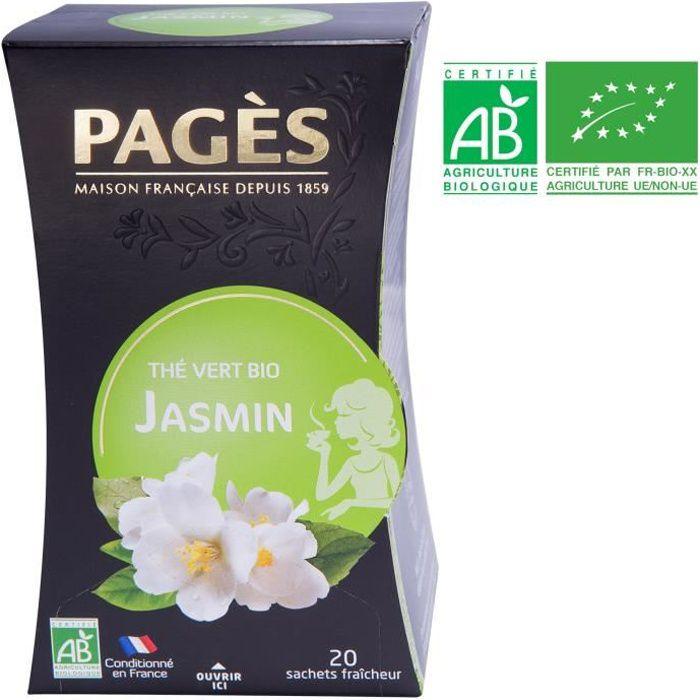 PAGES Thé Vert Jasmin - Bio