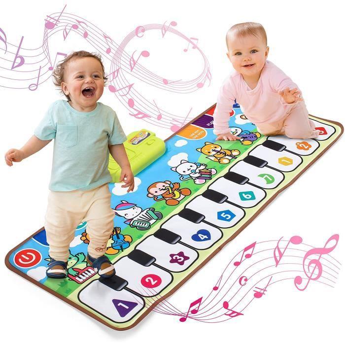 Tapis de danse piano pour enfants Tapis de musique pour piano éducation de la petite enfance bébé Jouets pour enfants de 1 à 4 ans.