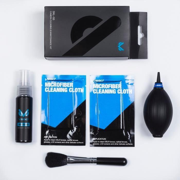 Accessoires Photo,Kit de nettoyage d'objectif optique 5 en 1, souffleur + brosse + nettoyeur d'objectif + microfibre pour