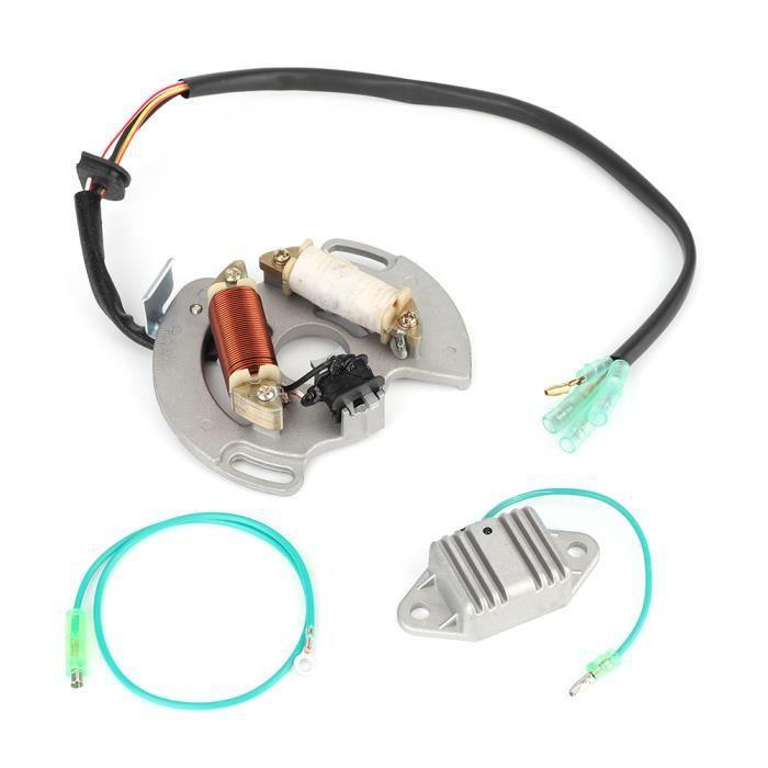 Drfeify Remplacement du stator Bobine Magnéto de Stator VTT avec Régulateur Accessoire pour Yamaha Blaster 200 YFS200 97-02