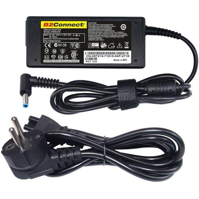 Chargeur adaptable pour Pc portable Hp Envy touchsmart 15-j051ei - 19.5v 3.33a - 65w avec