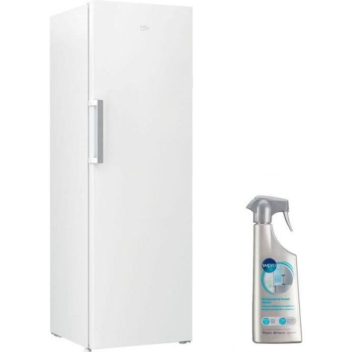 BEKO Congélateur armoire vertical blanc Froid ventilé 277L autonomie 18h No Frost