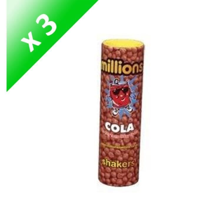 [LOT DE 3] Bonbons Millions shakers Cola 90g