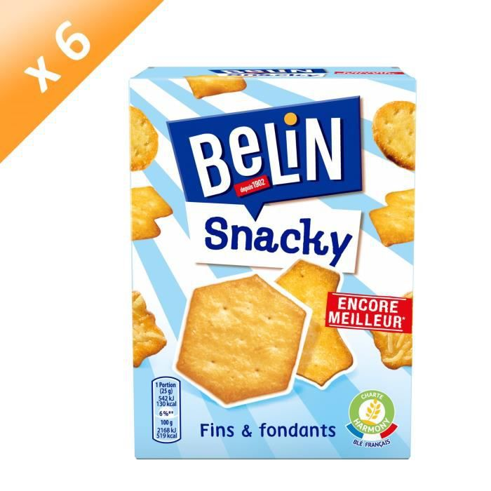 [LOT DE 6] BELIN Assortiment de Crackers 100g