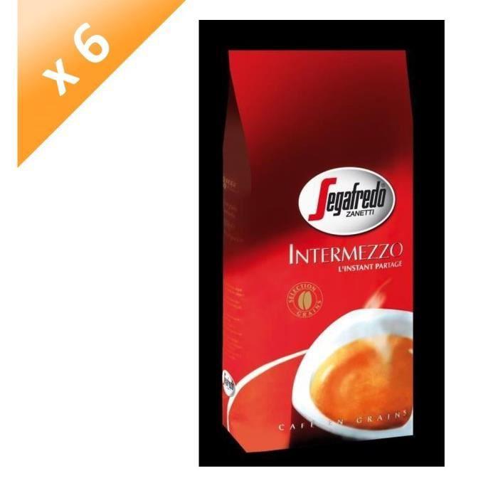 INTERMEZZO Lot de 6 Cafés Selection Grain - 1 kg