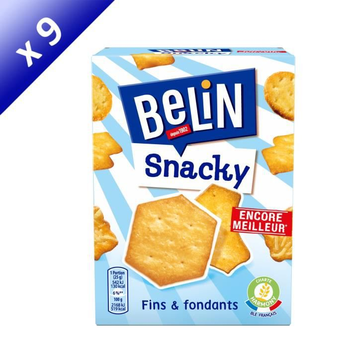 [LOT DE 9] BELIN Assortiment de Crackers 100g