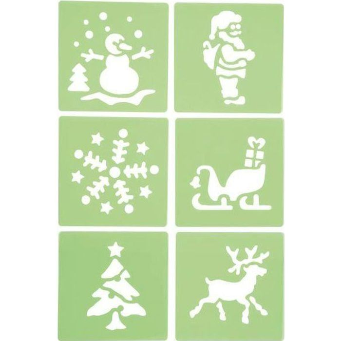 Lot de 6 pochoirs de Noël