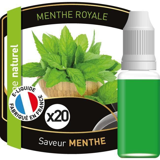 Lot de 20 e-liquides saveur menthe royal Gold ® 10 ml 12 mg