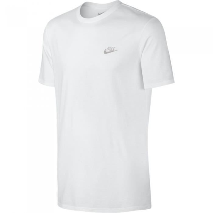 NIKE T-shirt Nsw Club Embrd Futura - Homme - Blanc