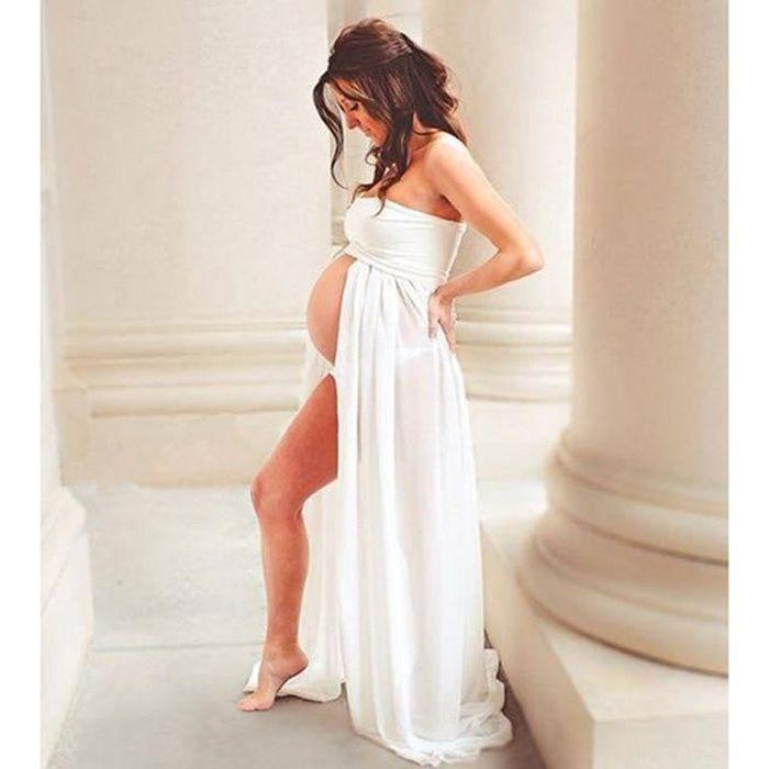 Zencart Robes De Maternité Pour Séance Photo Robe De Grossesse En Mousseline De Soie Accessoires De Photographie Robes Maxi Robe P
