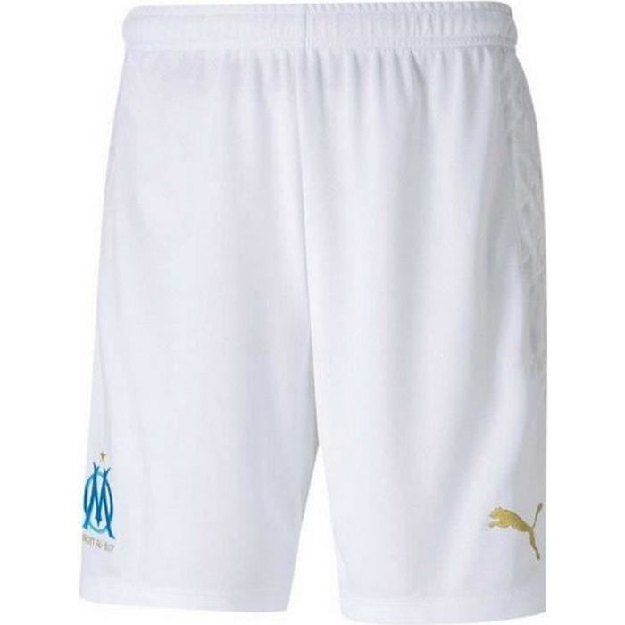 Short Officiel de Football Puma Homme OM Olympique de Marseille Domicile Saison 2020-2021